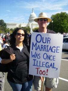 Gay Rights March--Our Marriage Was Once